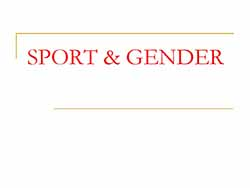 sport and gender