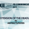 The deadline for submission of papers  has been extended